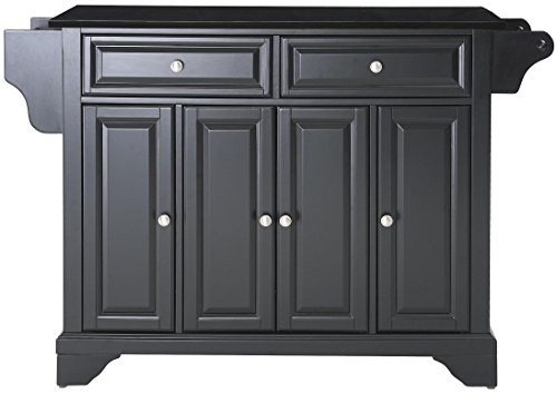 Crosley Furniture Lafayette Full Size Kitchen Island with Solid Black Granite Top