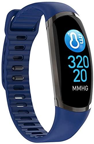Rastreador de fitness, Pedómetro Pantalla Corazón Monitoreo de la presión arterial Pulsera inteligente IP67 Reloj de pulsera deportiva impermeable (Color: Blanco)