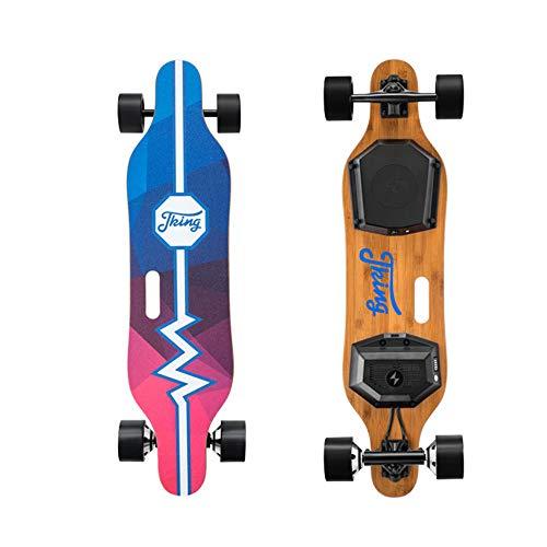 XLY compleet elektrisch skateboard, 900 W, met afstandsbediening, 28 km/h, max. snelheid, 20 km bereik, max. 20 °C, capaciteit van de airconditioning met vier wielen.