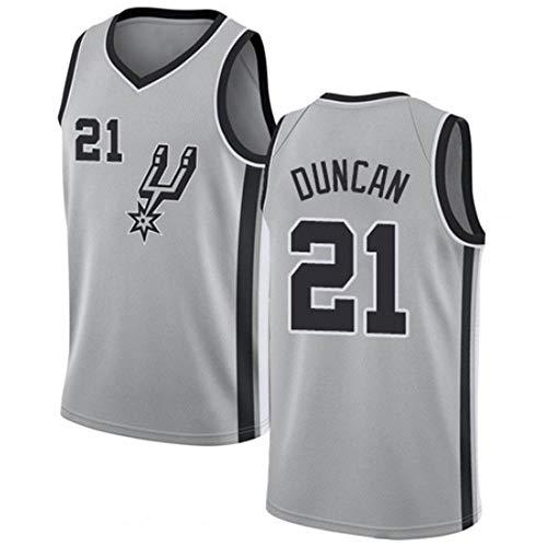 Gofei Herren Basketball Trikot Spurs 21# Duncan Jersey Herren Basketball Anzug Atmungsaktiv Weste