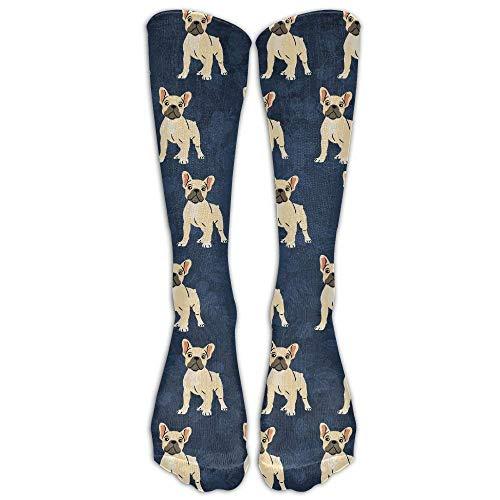 UYTGYUHIOJ French Bulldog Lovely Unisex Novelty Premium Calf High Athletic Socks...