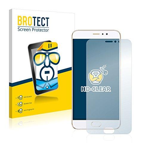 BROTECT Schutzfolie kompatibel mit Meizu Pro 6 Plus (2 Stück) klare Bildschirmschutz-Folie