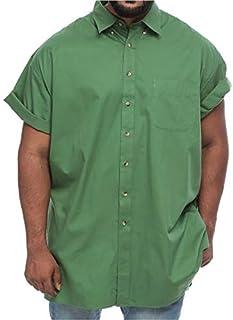 Harbor Bay Big and Tall Short Sleeve Wrinkle Resistant Shirt for Men - Olive