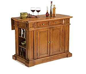 "Kitchen Island with raised detail cabinet doors Overall dimensions – 49.75"" W x 26.5"" D x 36.5"" H 