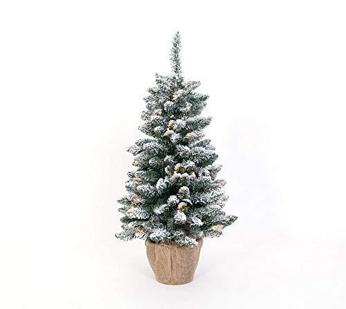 Evergreen Weihnachtsbaum 90 cm künstlicher LED Tannenbaum Kunstschnee Christbaum Kunstbaum Weihnachten