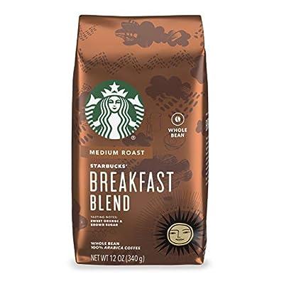 Starbucks Medium Roast Whole Bean Coffee — Breakfast Blend — 100% Arabica — 1 bag (12 oz.)