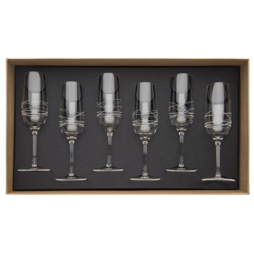 Guy Degrenne - 206394 - Coffret de 6 - Flutes à Champagne 20 cl