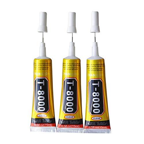 Lanceasy 15ml T8000 Reparatur flüssigen Klebstoff Multi Purpose Kleber für Touchscreen-Handy Rahmen Epoxy-Kleber