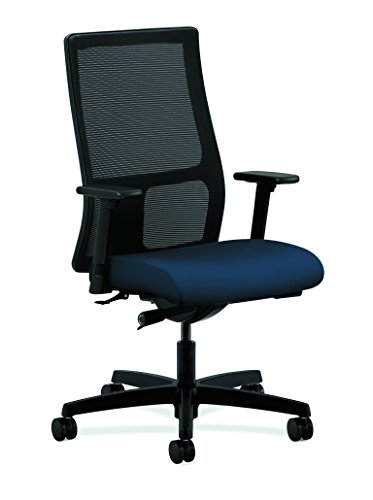 HON Ignition Series Mid-Back Work Chair - Mesh Computer Chair for Office Desk, Navy (HIWM2)