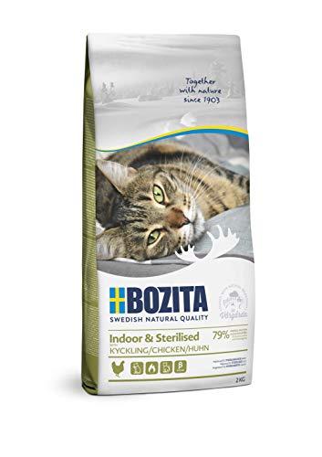 BOZITA Indoor & Sterilised Hühnchen - Trockenfutter für erwachsene hauptsächlich drinnen lebende Katzen, 2 kg