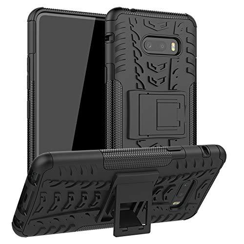 LFDZ LG V50S ThinQ 5G Hülle,Abdeckung Cover schutzhülle Tough Strong Rugged Shock Proof Heavy Duty Hülle Für LG V50S ThinQ 5G / LG G8X ThinQ [Not fit LG V50 ThinQ/LG G8S ThinQ],Schwarz