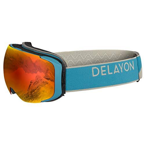 DELAYON Explorer Skibrille - Magnetisch (Navy/Gray, Space Fire)