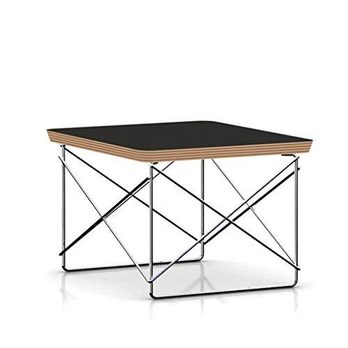 XiYou Mesa Auxiliar de Mesa de Centro, Mesa de té con Base de Alambre, Mesa Auxiliar Simple, Moderna, pequeña para sofá de Sala de Estar (Blanco)