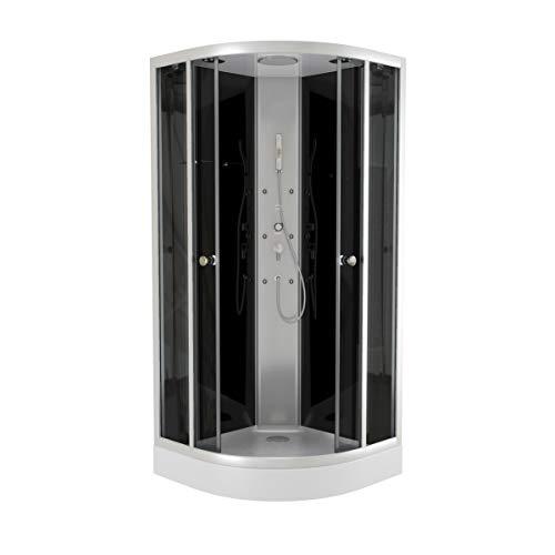 Aurlane CAB37N - Cabina de ducha, color negro