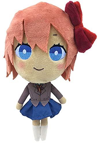 Doki Doki Literature Club Peluche, Natsuki/Monika/Yuri/sayori Anime Toy Cartoon Peluche pour Les Fans Collection (Sayori)