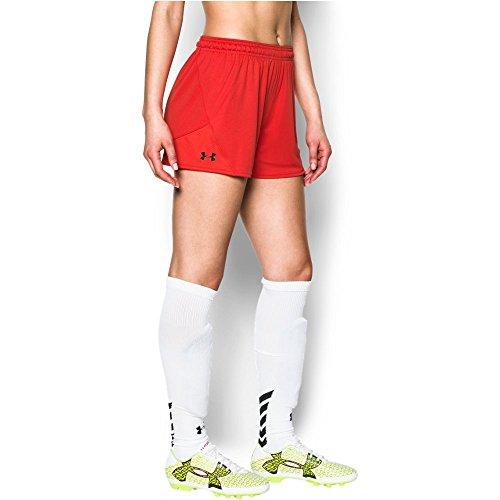 Under Armour Damen Challenger II Knit Shorts, Damen, Risk Red (600)/Schwarz, X-Large