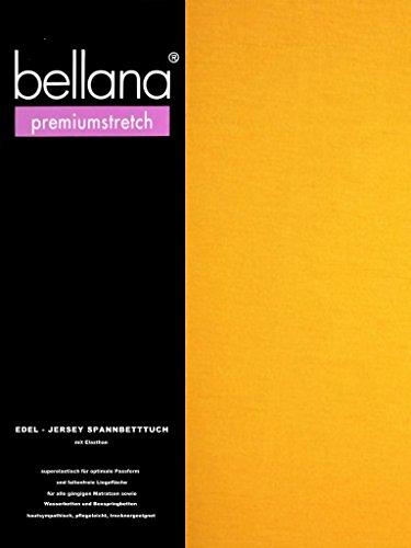 Bellana® premiumstretch Edel-Elastic-Jersey Spannbetttuch für Wasserbetten und Boxspringbetten, 90-120 x 200-220 cm, Gold