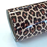 Thermoflex Fashion Patterns 12' Roll, Iron on Heat Transfer Vinyl Roll, HTV (Leopard, 5 Feet)