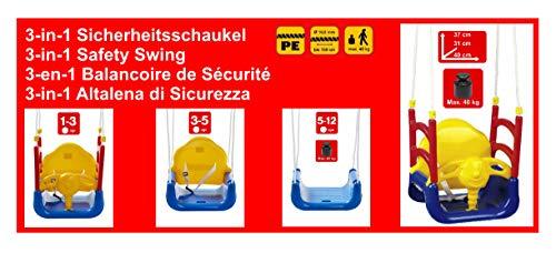 Izzy Baby-Schaukel 3-in-1 Kinder mitwachsend, Abnehmbarer Bügel, Schaukelsitz - 3