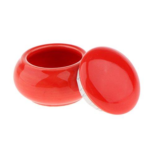 SDENSHI Voyage Cosmétique Vide Pot Pot Maquillage Conteneur Bouteille Boîte Céramique 12ml - Rouge