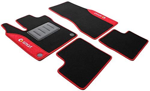 ilTappetoAuto COLOR0000049R, Auto Fußmatten, Anti-Rutsch-Teppich, rot