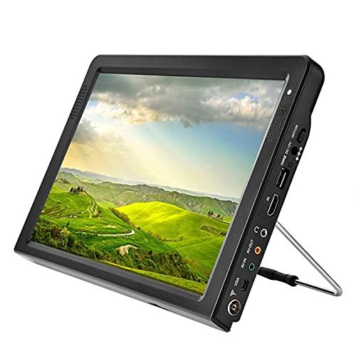 Televisor portátil de 12.1 Pulgadas, HD 16: 9 TFT LED TV para automóvil TV analógica Digital ATV 1080P Reproductor de televisión en Color de Video, Soporte DC12v/Entrada AV/Jack de 3.5 mm
