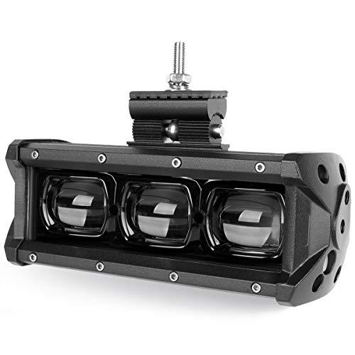 Barra de luz LED 6D para lentes, 20 cm, 30 W, 4 x 4, para coche, camión, todoterreno, ATV, motocicleta, 12 V, 24 V
