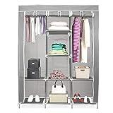 URBAN DESIGN Closet Ropero Armable Portatil Entrepaños - Gris