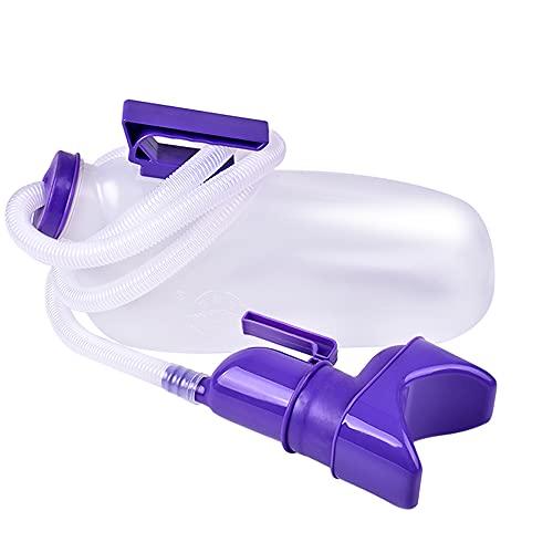 Orinario portátil unisex orina botella orinaria orinal sartenes a prueba de derrames, orina jarras de viaje, dispositivo de micción con tapa y embudos para hospital, camping