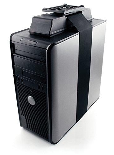 Knape & Vogt 7322AZ17ajustable UNDER-DESK, almacenable CPU soporte con giro de 360grados en color negro
