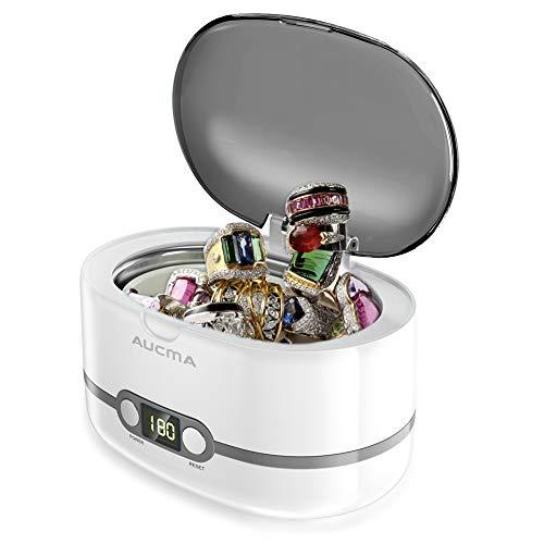 Ultraschallreinigungsgerät Ultraschallreiniger 600ml – Aucma Ultraschallgerät für Brille Uhren Schmuck Ohrringe Ringe Halsketten Rasierer Zahnprothesen, 42,000Hz