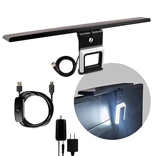 GE LED Lights Amplified TV Antenna, TV Bias Light Improves Picture Quality and Reduces Eye Strain, 4K 1080P Digital HDTV VHF UHF, Amplifier Signal Booster, LTE Filter, Long Range Indoor, 46003
