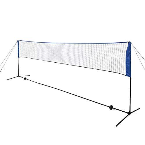 Zerone Badmintonnetz Set, Badminton Netzgestell aus Stoff und PE Freizeit-Netz mit Hhenverstellbare Rahmen, 500 x 155 cm
