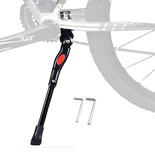 "BESTCAN Bicycle Kickstand,Adjustable Aluminum Alloy Bike Kickstand for 20"" 22""24""26""28""Mountain Bike"