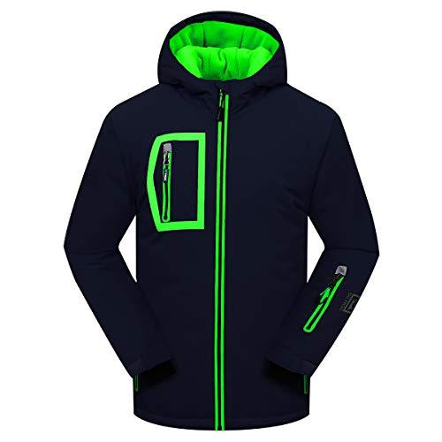 PHIBEE Big Boy's Waterproof Breathable Snowboard Ski Jacket Deep Blue 6