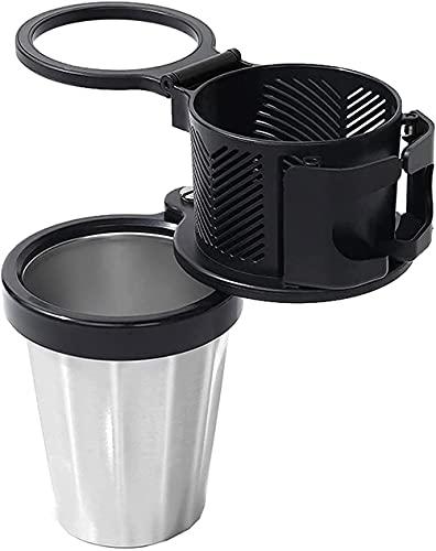 Soporte de taza para coche adaptador de expansor multifuncional para bebidas de coche, soporte para taza y organizador giratorio de 360 ° Base ajustable