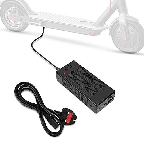 Ejoyous Electric Scooter Battery Charger, 42V 2A Scooter Charger Adapter Mobility Scooter Charger for Xiaomi M365 Mobility Scooter Electric Wheelchair Golf Buggy, 5.3 x 2.4in, SLS-4202, UK Plug