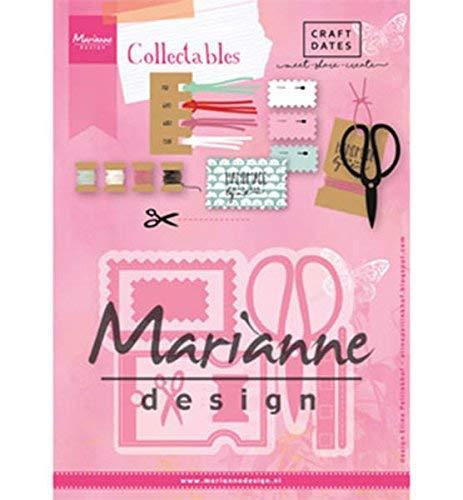 Marianne Design COL1445 Fustella, Metallo, Rosa, 21x15x0.5 cm