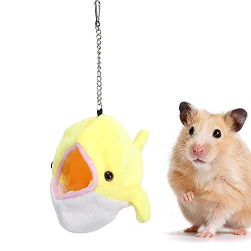 Hamster hangmat, kleine huisdieren Winddichte warme hangmat Visvormige hangende schommel Slaapbed Grot voor hamster Eekhoorn Ferret Chinchilla Cavia Rat Muizen