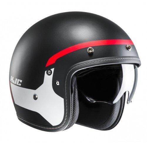 HJC Motorradhelm FG-70s Modik MC1SF, Schwarz/Weiß/Rot, Größe M