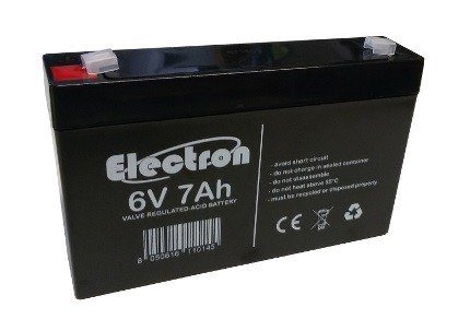 Loodaccu 6V Volt 7Ah met Fastonaansluiting 4,8 mm 151x33x98 mm