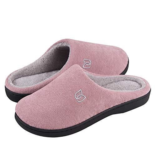 Zapatillas de Estar por casa Mujer Hombre Invierno Interior Pantuflas de casa - Caliente, Suave y Antideslizante(Rosa 38 39)