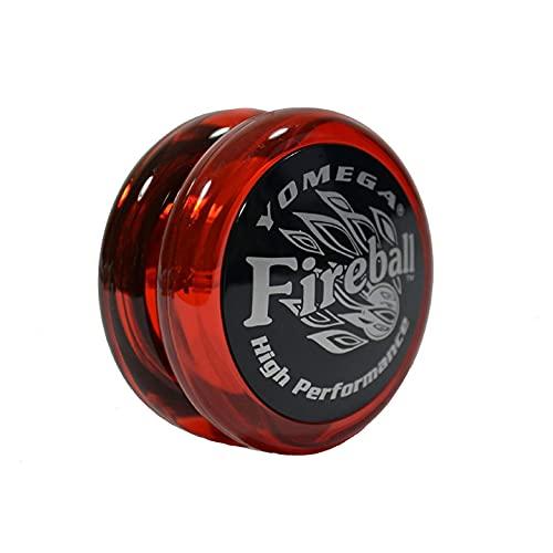 Yomega Fireball - Professionell ansprechbares Transaxle Yoyo, ideal für Kinder und Anfänger, um wie Profis zu Spielen + zusätzliche 2 Saiten (Dunkelrot)