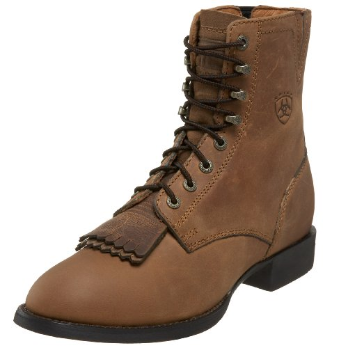 Ariat Women's Heritage Lacer II Western Cowboy Boot, Distressed Brown, 7.5 M US