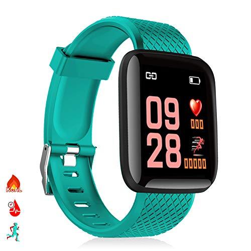 DAM Brazalete inteligente ID116 Bluetooth 4.0 pantalla color, monitor cardiaco, pulso y modo multideporte