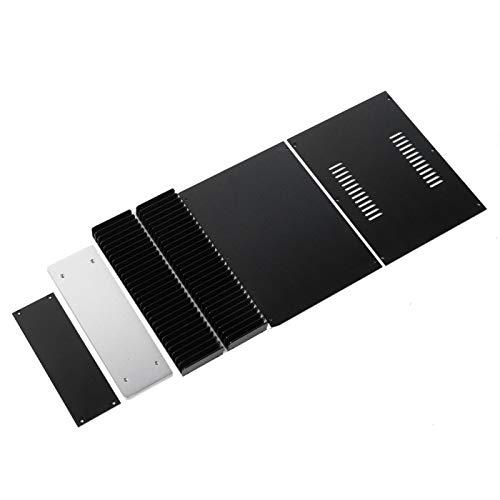 Caja del amplificador, caja de aluminio, caja del chasis WA92, caja electrónica de aleación de aluminio para piezas de vídeo y audio Piezas de TV