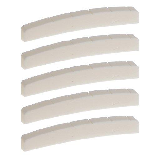 potente para casa 5 tuercas de hueso para piezas de guitarra Stratocaster Telecaster con ranuras y agujeros