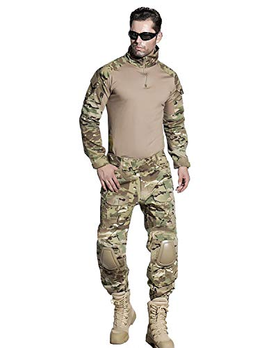 SINAIRSOFT Tactical Combat Pants Shirt Military Paintball BDU Gen3 Uniform