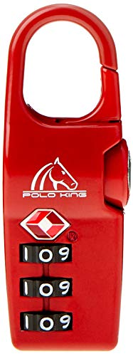 Cadeado para Bagagem TSA Polo King, Adulto-unissex, Vermelho