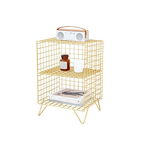 XLEVE Nordic Dormitorio Mesita de luz Moderna Revista Hierro Forjado Multi-Capa de Almacenamiento en Rack Baño Pavimento Plataforma Firma Estable